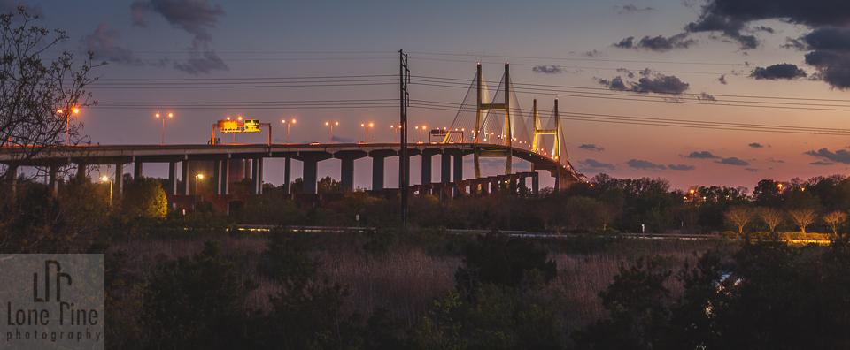Sunset on Talmadge Bridge
